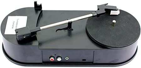 Hyperia USB Phonograph Turntable 33/45RPM Vinyl Audio Player Convert LP Record to CD or MP3 Supports Windows XP/Vista/7/Mac