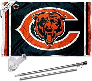 WinCraft Chicago Bears Dual Logo Flag Pole and Bracket Kit