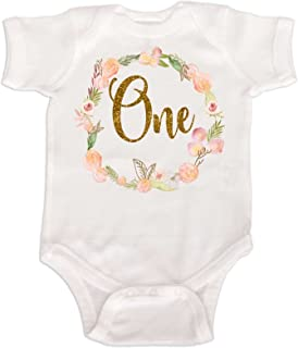 Baby Girls' Bodysuit First Birthday