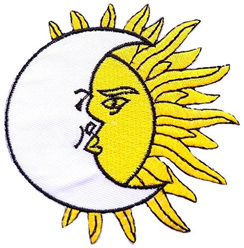 Écusson patch soleil ecusson patches brodé Écusson thermocollant 8 cm