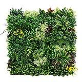 UNICESPED Jardín Vertical Artificial Exterior e Interior Spring Two Decoración Pared Plantas y Flores 90x90 centimetros