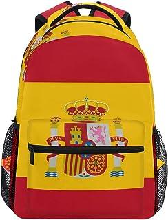 DEZIRO Mochila escolar de la bandera de España para portátil