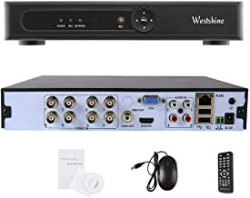 Westshine 1080P 8CH de Vigilancia Grabador de Video Digital CCTV H.264 DVR NVR para AHD/TVI/CVI/Analog/IP Seguridad Cámara (Soporta Onvif P2P HDMI,Detección de Movimiento,Alarma Email,Sin Disco Duro)