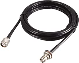 uxcell RG58 RF Coaxial Cable TNC Male to TNC Female Pigtail Jumper Cable 10 Feet