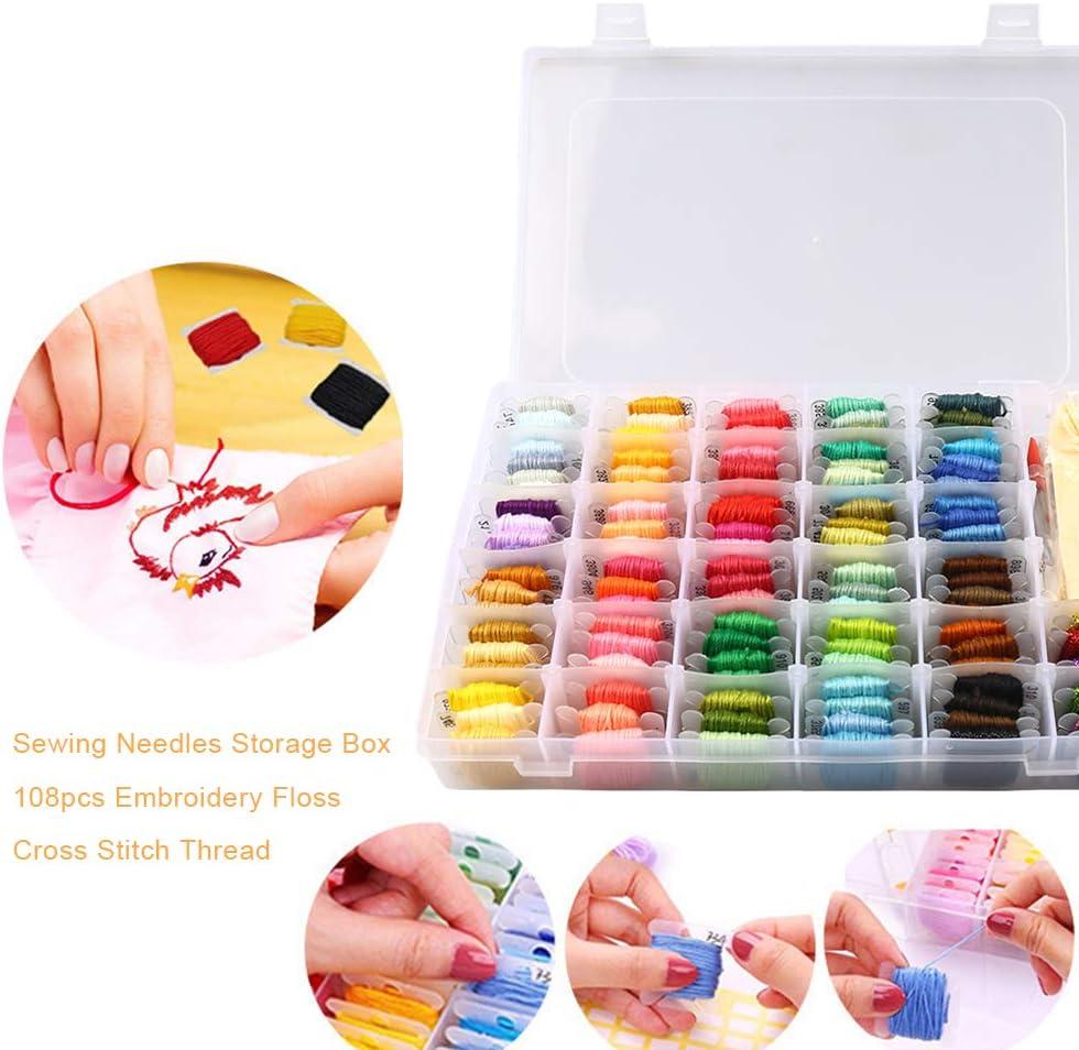 Embroidery Floss Organizer Box Floss Bobbins Organizer Box Set Style 1 Plastic Storage Box for Embroidery Thread