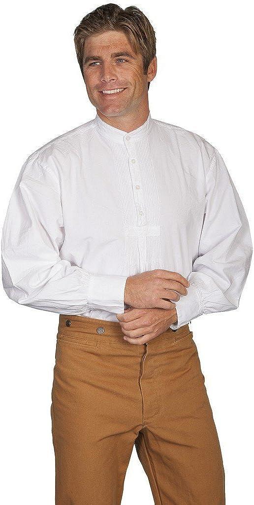 Scully Wahmaker Men's Wahmaker Pleated Front Puffed Sleeve Shirt - 500020 Wht