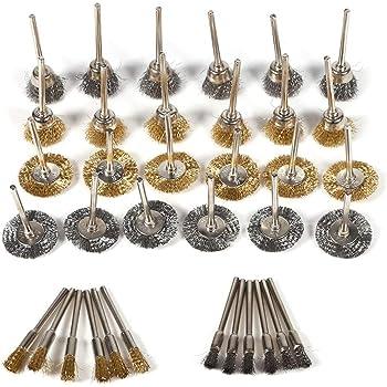 nylon lat/ón acero inoxidable Juego de mini cepillos 3 piezas BGS 9314 165 mm