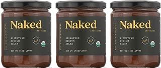 NAKED Infusions Organic Gourmet Salsa - 3 x 16oz Jars - 3 pack - Organic Signature Ripe Tomato - MEDIUM HEAT