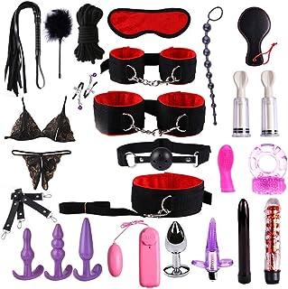 blingdeals Adult Fun 25PCS/Set Bed-Game-Play-Set Bí'ndí'ng Sixy Games Toys Women Man Couple Kits