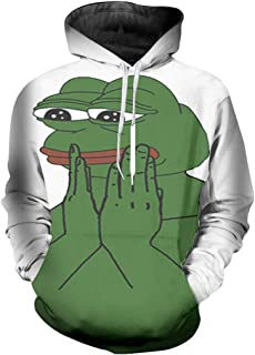 6519a90f471c96 Men Sweatshirt Hoodies 3D Print The Frog Hip Hop Tops Long Sleeve Sweats