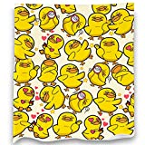 Loong Design Yellow Duck Throw Blanket Soft Fluffy Premium Sherpa Fleece Blanket 50'' x 60'' Fit for Sofa Bed Chair Office Travelling Camping Gift