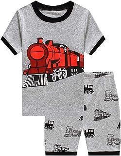 bccfeb4804dff Showu Ensembles Shorts et Haut Garçon T-Shirt Et Pantalons pour Enfants  Garçon 1-
