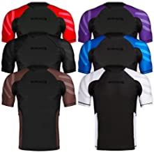 Sanabul Essentials Short Sleeve Compression Training Rash Guard for MMA BJJ Wrestling