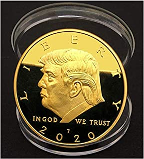 Limited Edition Donald Trump Keep America Great 2020 Coin - American Eagle Commemorative Coin 41mm Stunning Proof Coin in Acrylic Capsule.