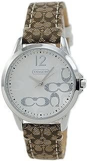Coach Womens 14501620 Classic Signature Strap Silver Dial Watch