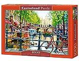 Castorland Amsterdam Landscape 1000 pcs Puzzle - Rompecabezas (Puzzle Rompecabezas, Ciudad, Niños y Adultos, Niño/niña, 9 año(s), Interior)