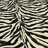 Stoff Polyester Plüsch Zebra Fellimitat Fell schwarz weiß