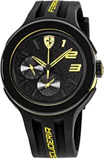 Ferrari Mens Quartz Watch, Analog Display and Silicone Strap 0830224