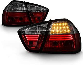 ACANII - For 2005-2008 BMW E90 4-Door Sedan 3-Series Red Smoked Lumileds LED Tail Lights Brake Lamps Driver & Passenger