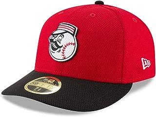 Cincinnati Reds Low Profile Diamond Era Fitted Size 7 1/8 Hat Cap - Team Colors