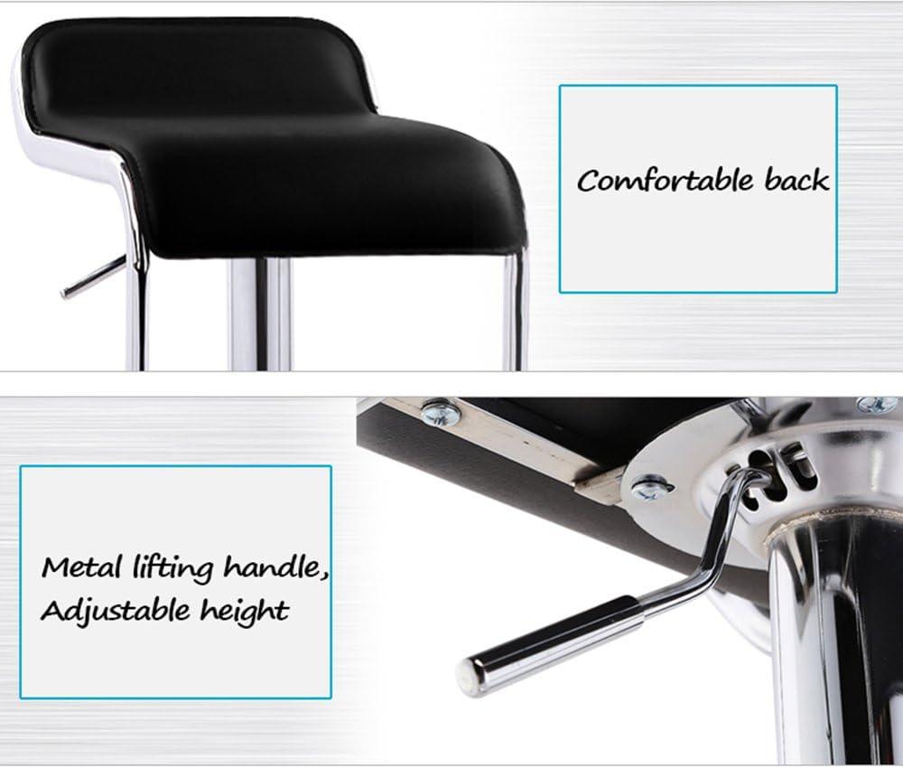Tabouret de bar européen de levage tabouret haut tournant tabouret de barbier tabouret de beauté chaise de retour chaise pivotante 41 x (71-91) cm (Couleur : Red) Beige
