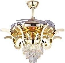 Binnenventilator met schakelaar, intelligente ventilator, stil, koper, led, woonkamer, slaapkamer, onzichtbare decoratie