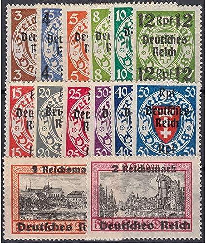 Goldhahn Deutsches Reich Nr. 716-729  Danzig Aufdruckwerte Briefmarken für Sammler