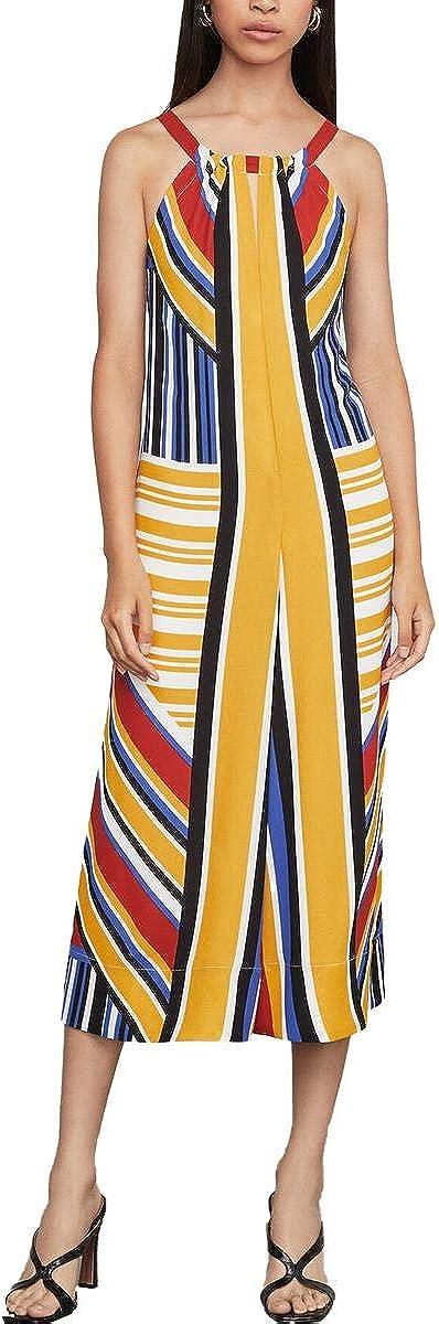 BCBGMAXAZRIA Women's Mixed 5 popular Jumpsuit Cropped Stripe Recommendation