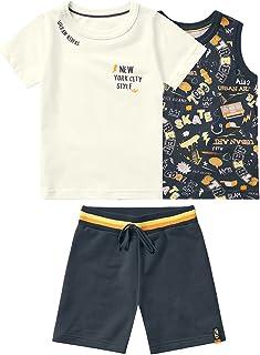 Conjunto camiseta + regata + bermuda Marisol
