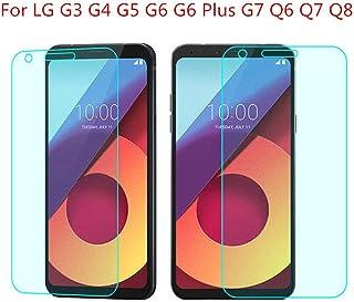 Haodong 9H härdat glas för LG G7 G6 G6 Plus G5 G4 G3 Anti-krossbart skärmskydd för Q6 Q7 Q8 främre skyddsfilm (3 delar), F...