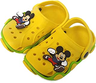 T R TRADERS Kids Eva Clogs (for 8 Month to 6.5 Years) (Yellow)