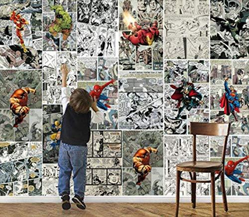 Papel pintado 3D personalizado, diseño de cómics de Marvel en 3D, para habitación de los niños(2m*1m)