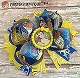 Belle Hair Bow, Beauty and the Beast Hair Bow, Disney Inspired Hair Bow, Headband, Infant Headband, Baby Headband, Newborn headband, Disney Princess Bow, Handmade Hair Bows