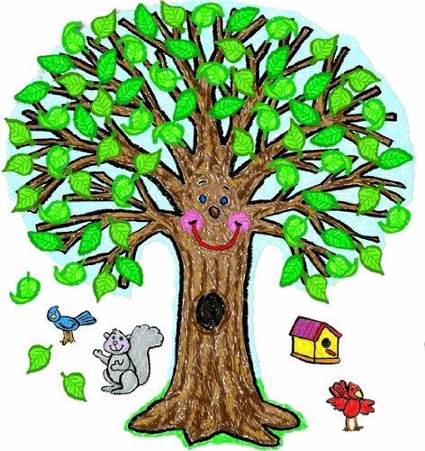 Carson Dellosa – Big Tree: Kid-Drawn Bulletin Board Set, Classroom Décor, 59 Pieces