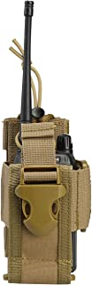 Viperade Versatile Radio Holder Case Interphone Pouch, Adjustable Storage Tools Pouch, Multi-Functional Tactical Molle Two Way Radio Holster, Walkie Talkie Heavy Duty Holder Case (Tan)