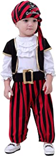 Baby Boys Pirate Costumes 4Pcs Captain Infant Outfits