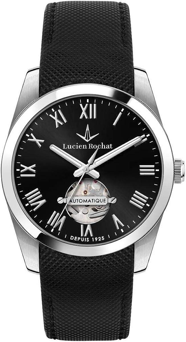 Lucien Rochat Reloj Hombre, Colección LÈMAN, Automático, en Acero, Cuero - R0421114001