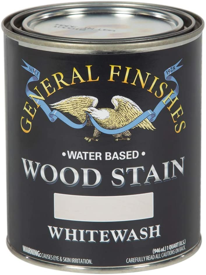 General Finishes Water Based Finally popular OFFicial mail order brand Wood Stain Quart 1 Whitewash