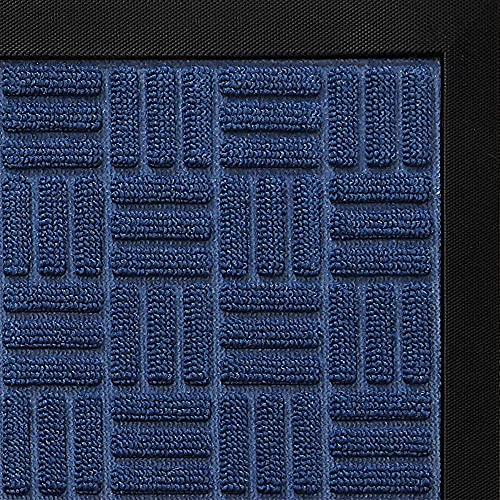 DEXI Large Door Mat Front Indoor Outdoor Doormat,Heavy Duty Rubber Outside Rug for Entryway Patio Garage,4'x6',Navy Blue