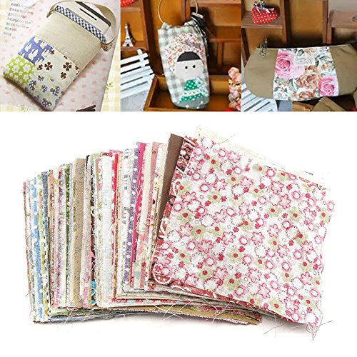 100 pcs Carré Coton Floral Couture Craft Tissu Patchwork Bricolage 10 cm x 10 cm