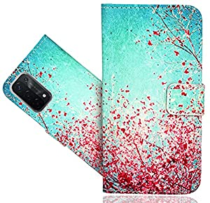 WenTian OPPO A54 5G Case, CaseExpert® Beautiful Pattern Leather Kickstand Flip Wallet Bag Case Cover For OPPO A54 5G