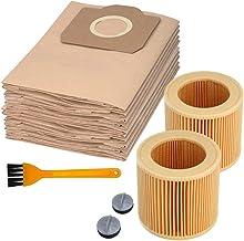 2 stuks filters voor Kächer 10 stofzuigerzakken filterzakken voor Kärcher WD2, WD3, WD3 Premium, SE 4001, SE 4002 compatib...
