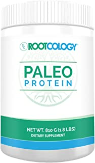 Rootcology Paleo Protein - Dairy-Free and Soy-Free 21g Hydrolyzed Beef Protein Powder with MCT and Stevia - for Energy and...