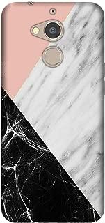 Cekuonline General Mobile GM 8 Kılıf Desenli Esnek Silikon Telefon Kabı Kapak - Siyah Pembe Beyaz Mermer