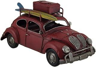 Zeckos Loaded Up Beach Bound Red Retro Surfer Car Statue