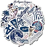 Dodgers Party - 19 PCS Los Angeles Aesthetic Dodgers Vinyl Waterproof Stickers Pack for Water Bottle Laptop Luggage Guitar Skateboard Car Window