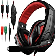 DLAND Gaming Headset, 3.5mm Wired Bass Stereo Noise Isolation Gaming Headphones with Mic for...