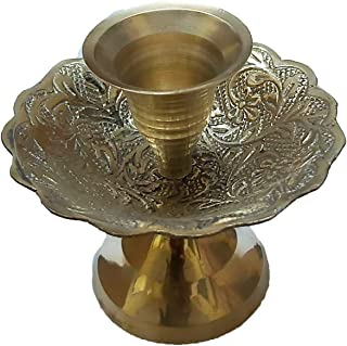 PARIJAT HANDICRAFT Candlestick Holder for Taper Candles Traditional Chamberstick Shape, Metal, Fits Standard Tapered Candl...