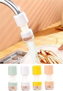 4pcs Rotatable Filter Pressurized Shower, Faucet Booster Filter, Splash-proof Head of Faucet, Rotatable Filter Sprinkler W...