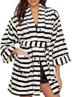 Party Dot Plush Short Robe (KS41653)